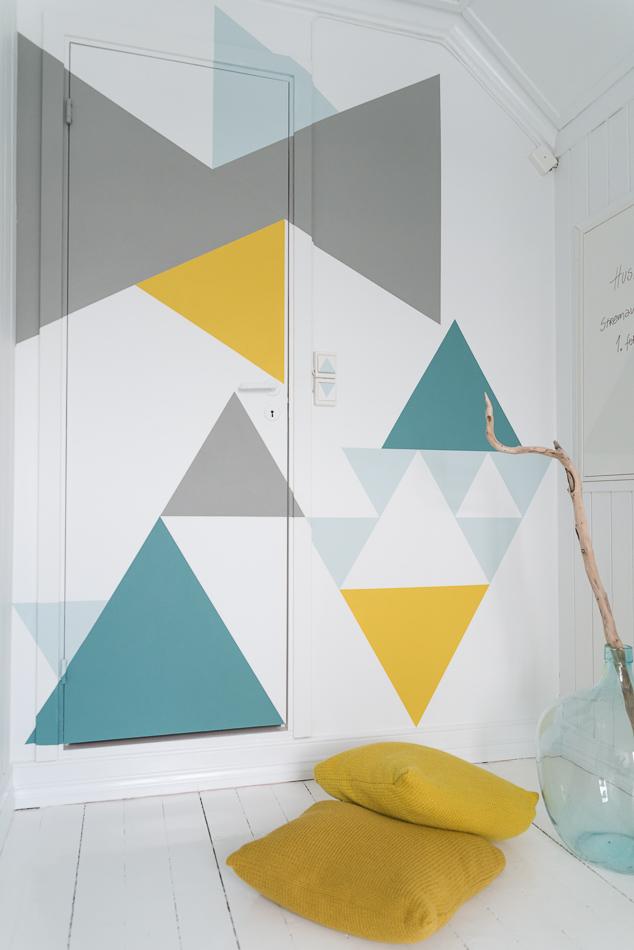 Bahar Renklerinde Geometrik Desenler Boya Fikirleri