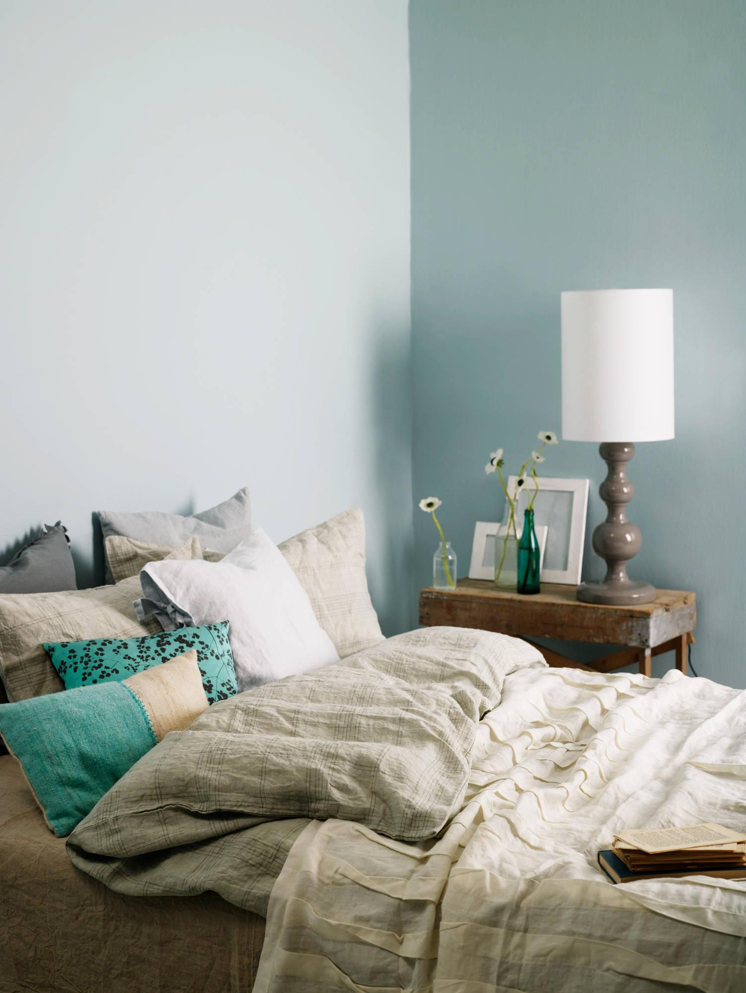 yatak odalarında yeşil